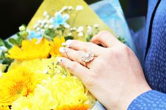 Getting Engaged royalty free stock photography
