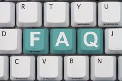 Getting the FAQs online Royalty Free Stock Photography