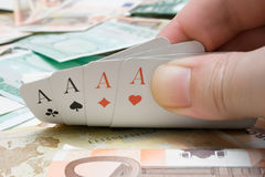 Getting Four Aces Stock Photos
