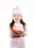 Getting Fresh. A young girl has fun making something good to eat stock photos