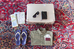 Getting the gear ready for travel. Stock Images