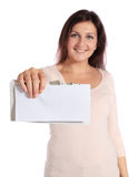Getting good news Royalty Free Stock Image