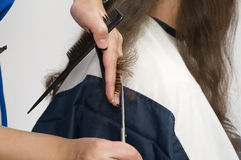 Getting haircut Royalty Free Stock Images