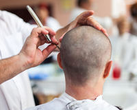 Getting a haircut Stock Photography