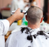 Getting a haircut Stock Images