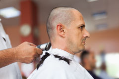 Getting a haircut Royalty Free Stock Photos
