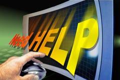 Getting help. Get help royalty free illustration