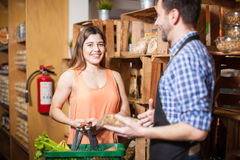 Getting help with the groceries Royalty Free Stock Photo