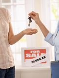 Getting keys to new house Stock Photography
