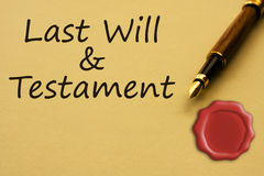 Getting a last will and testament Royalty Free Stock Image
