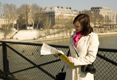 Getting lost in Paris Royalty Free Stock Image