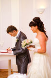 Getting married Royalty Free Stock Photos