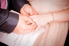 Getting Married Closeup Concept Stock Photos