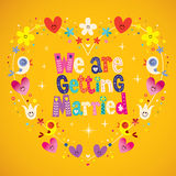We are getting married Royalty Free Stock Photos