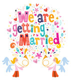 We Are Getting Married wedding invitation card Stock Photography