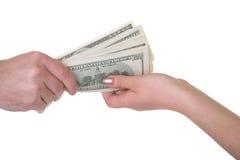Getting money royalty free stock photo