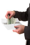 Getting money Stock Images