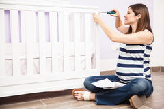 Getting the nursery ready for my baby Royalty Free Stock Images