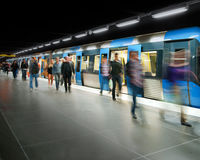 Getting off the train Royalty Free Stock Image