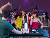 Getting the party started Stock Photography