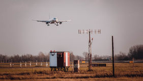 Getting path of planes over the vast expanses Stock Photos