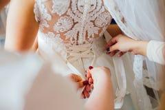 Getting ready bride wedding Stock Photo