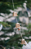 Getting ready for christmas hand made Christmas tree toys Royalty Free Stock Image