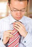 Getting ready for an interview Stock Photo
