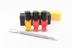Getting ready for a manicure Stock Image