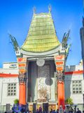 Getting Ready For The Oscars In Hollywood. Hollywood Blvd at the Dolby Theater where construction is going on to ready for the Oscars in Mar ch royalty free stock photo