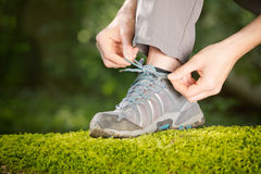 Getting Ready for an Outdoor Activity Stock Images