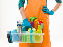 Getting ready for spring cleaning Stock Photography