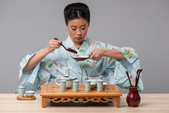 Getting ready for tea ceremony Stock Photo