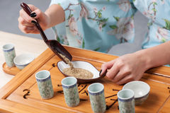 Getting ready for tea ceremony Stock Images