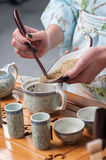 Getting ready for tea ceremony Royalty Free Stock Photo