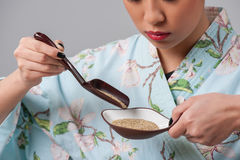 Getting ready for tea ceremony Royalty Free Stock Photos