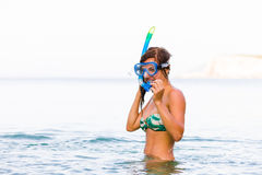 Getting ready to dive Stock Photography