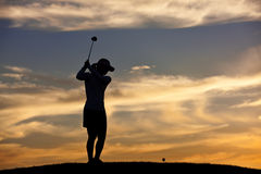 Getting ready to hit the ball. Stock Image