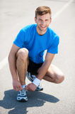 Getting ready to jogging. Royalty Free Stock Image