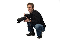 Getting ready to shoot Stock Image
