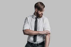 Getting ready to work hard. Royalty Free Stock Photos