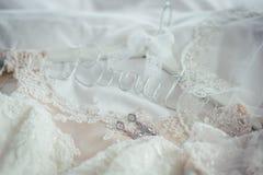 Getting ready wedding bride. Groom Stock Photography