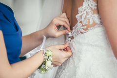 Getting ready wedding bride Stock Image