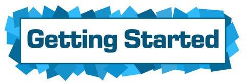 Getting Started Blue Random Shapes Horizontal Royalty Free Stock Image