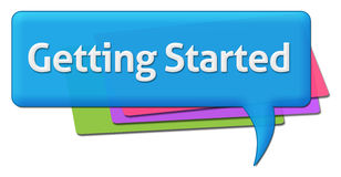 Getting Started Colorful Comment Symbol Stock Photos