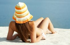 Getting tanned Stock Photography