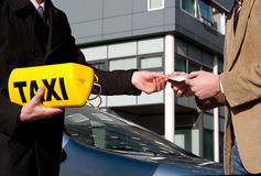 Getting the taxi license Stock Photography