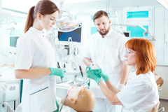 Getting to know the usage of different dental tools stock images