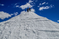 Getting to the Top of Mount Sherman Royalty Free Stock Image