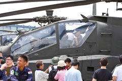 Getting up close with aerial static display. During the two days of open house by the Republic of Singapore Air Force, the public get the chance to see, touch Royalty Free Stock Photo